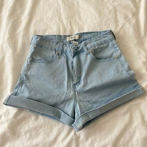 Forever21 Light denim high waisted shorts